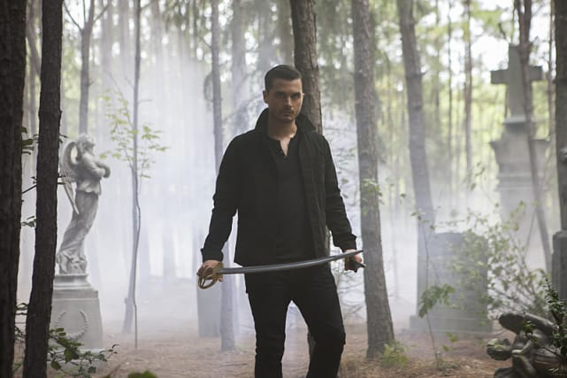 Enzo with a Sword - The Vampire Diaries Season 7 Episode 7