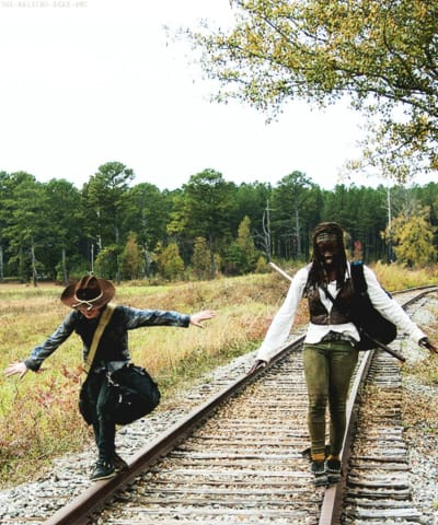 Carl and Michonne