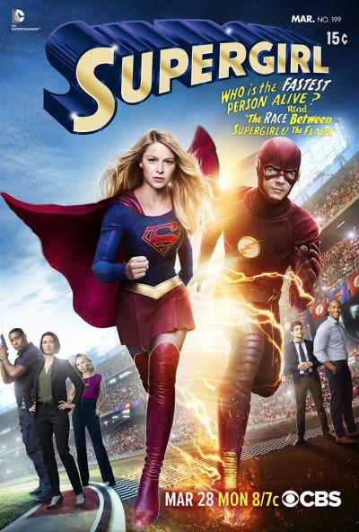 Supergirl Races The Flash