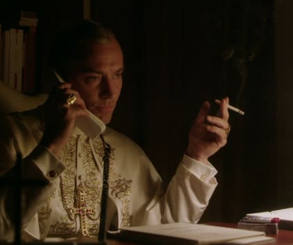 Smoking Pope - The Young Pope Season 1 Episode 9