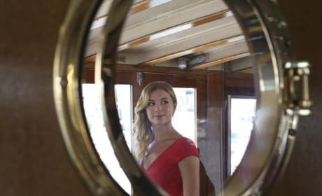 Emily on a Boat