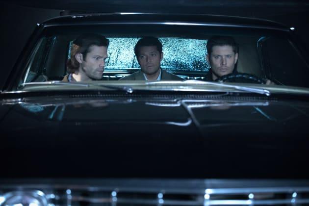 Sam, Dean and Castiel take a ride - Supernatural Season 12 Episode 12