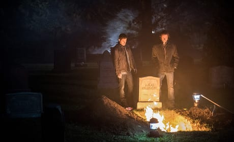 Sam and Dean burn the bones - Supernatural Season 12 Episode 3