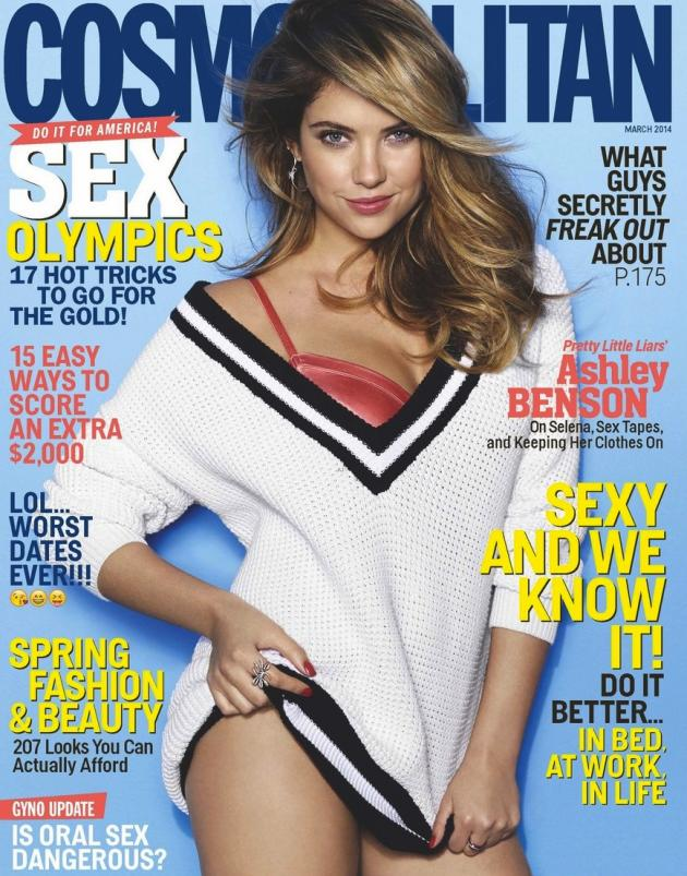 Ashley Benson Cosmo Cover