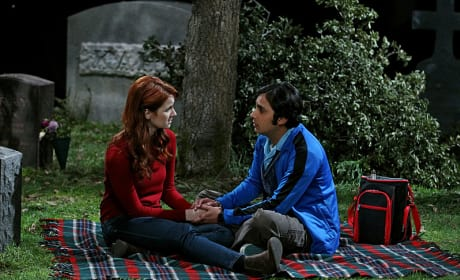 Emily and Raj - The Big Bang Theory Season 8 Episode 24