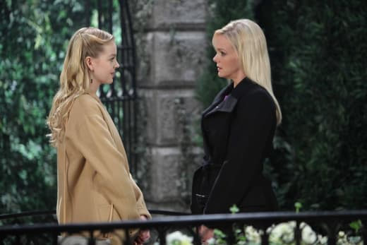 Claire Questions Belle - Days of Our Lives