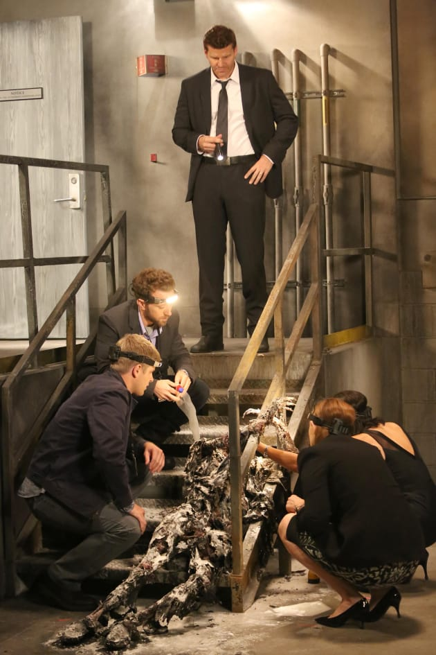 The Team Examines the Remains of a Body at a Forensic Science Convention - Bones