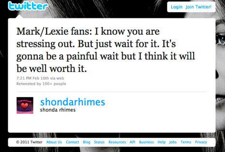 Shonda Tweeting