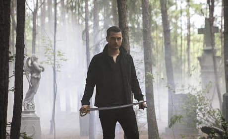 Enzo with a Sword - The Vampire Diaries Season 7 Episode 7