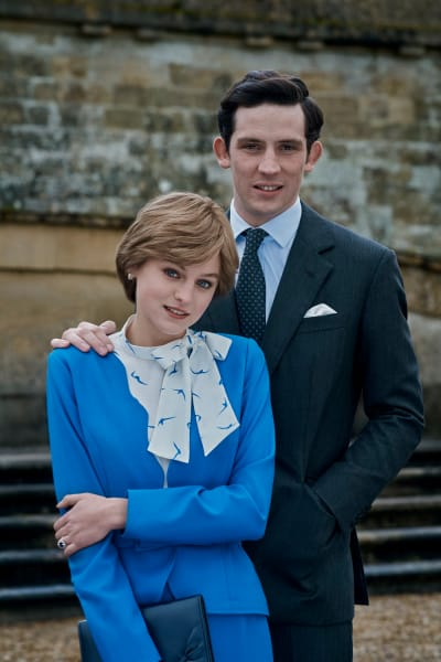 Prince Charles and Princess  Diana of The Crown