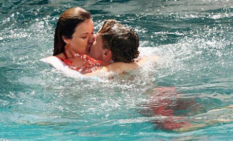 Cox and Jordan in the Pool