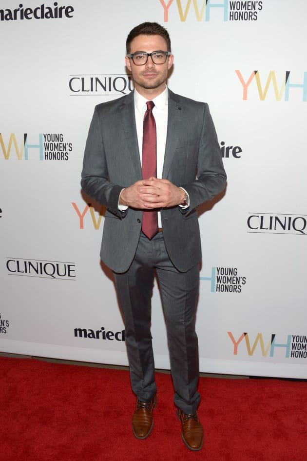 Jonathan Bennett Attends Marie Claire Event