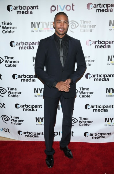 Charles Michael Davis Attends Movie Screening
