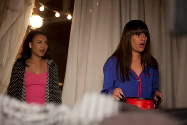 Santana and Rachel in Shock