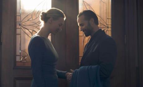 Comforting His Wife - The Handmaid's Tale Season 1 Episode 8