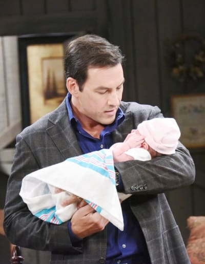 (TALL) Stefan Bonds With the Baby - Days of Our Lives