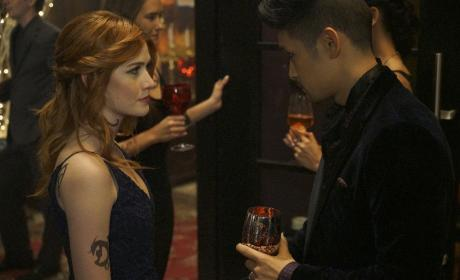 Over Drinks - Shadowhunters Season 2 Episode 8