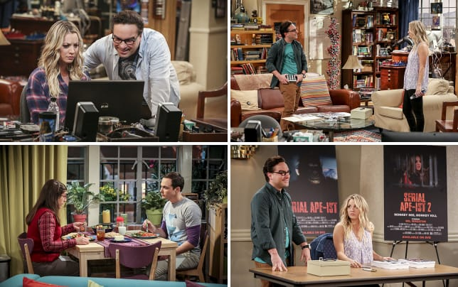 Looking online the big bang theory s10e6