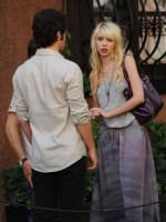 Taylor and Penn on the Set