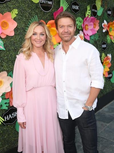 Elisabeth Rohm and Matt Passmore at Lifetime Summer Luau