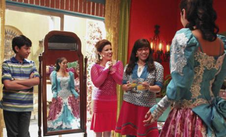 Hilda Shows Off Her Wedding Dress