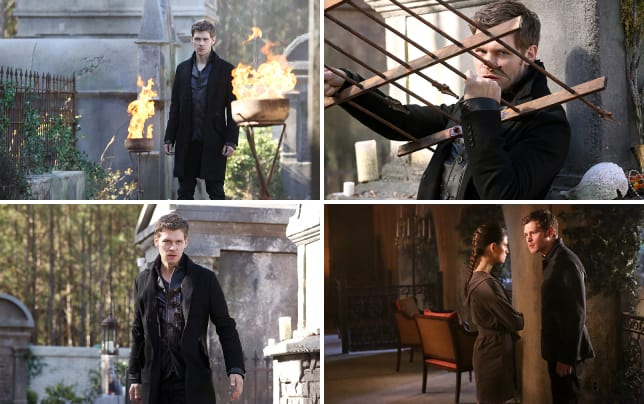 Klaus on fire the originals