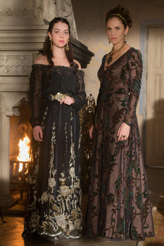 Adelaide Kane and Amy Brenneman on Reign