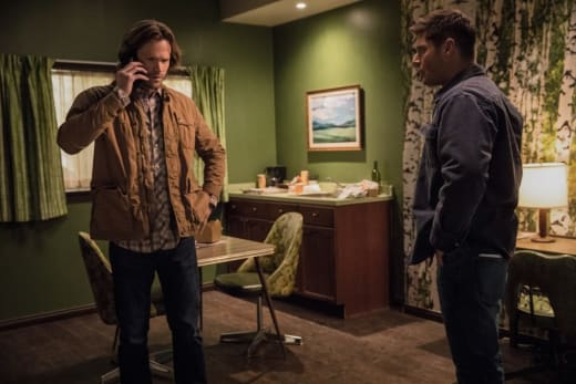 Sam takes a call - Supernatural Season 12 Episode 21