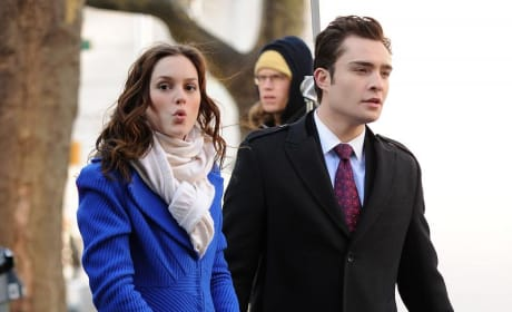 Ed and Leighton on the Set