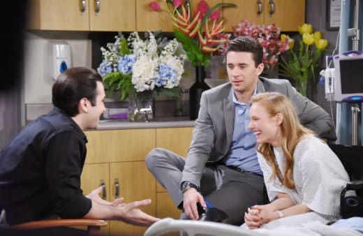 Sonny, Chad, and Abby Laugh - Days of Our Lives