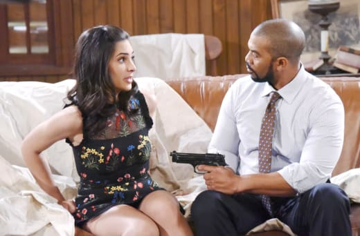 Raines Holds Gabi Hostage - Days of Our Lives