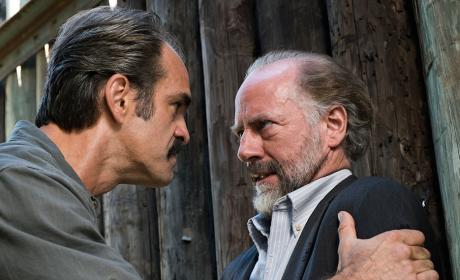 Simon talks with Gregory - The Walking Dead Season 7 Episode 14