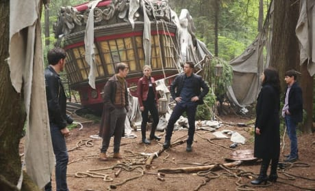 Hook, Jekyll, Emma, David, and Regina - Once Upon a Time