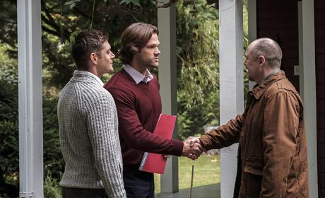 What's a handshake between friends - Supernatural Season 12 Episode 4