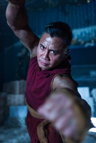 Cyan the Abbot in Battle - Into the Badlands Season 2 Episode 6