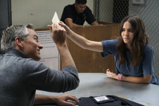 Callie and her father - Cruel and Unusual - The Fosters Season 4 Episode 13