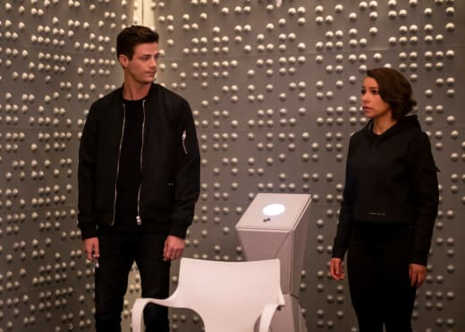 Barry and Nora Worried - The Flash Season 5 Episode 8