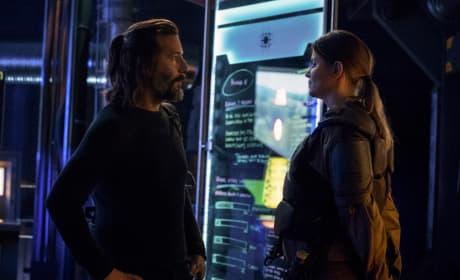 Kane and Charmaine Talking Logistics  - The 100 Season 5 Episode 8