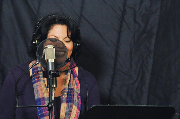 Sara In the Studio