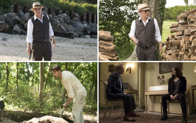 Red takes a stroll on the beach the blacklist season 4 episode 1
