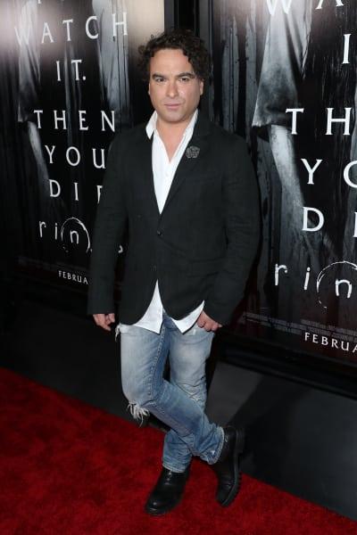 Johnny Galecki Attends Fan Screening of Rings