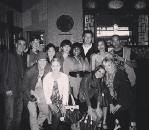 Glee Throwback Photo