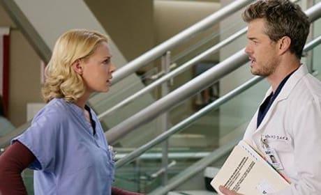 Mark Sloan and Izzie Steves