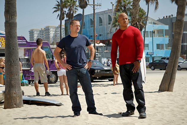 Callen and Sam on the Scene