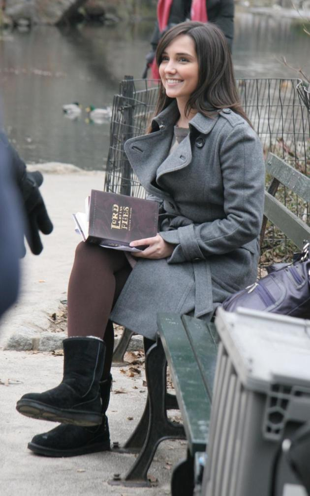gossip girl pictures from the set  serena and rachel