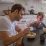 Father and Son Eating - 9-1-1 Season 2 Episode 4