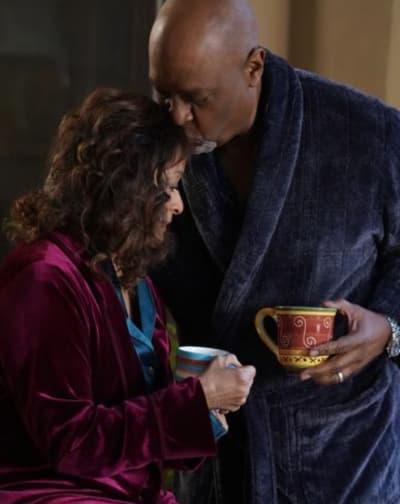 Richard and Catherine Embrace - Grey's Anatomy Season 17 Episode 14