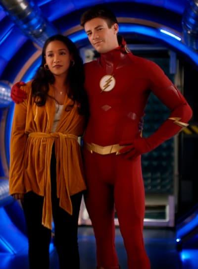 WestAllen Watches Their Daughter - The Flash Season 5 Episode 10