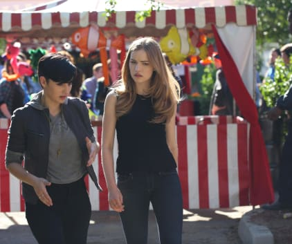 Audrey and Emma at the Carnival - Scream