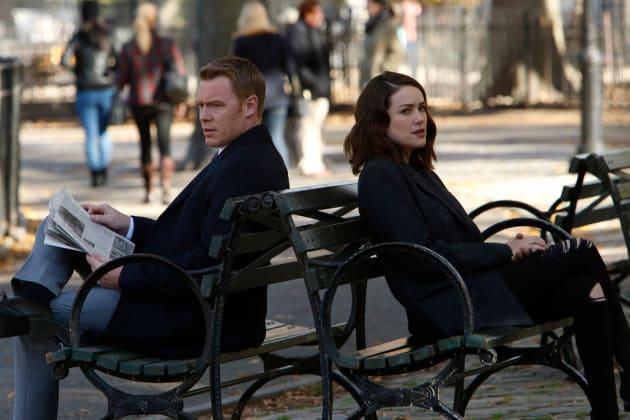 Ressler and Liz find some nice benches - The Blacklist Season 4 Episode 11